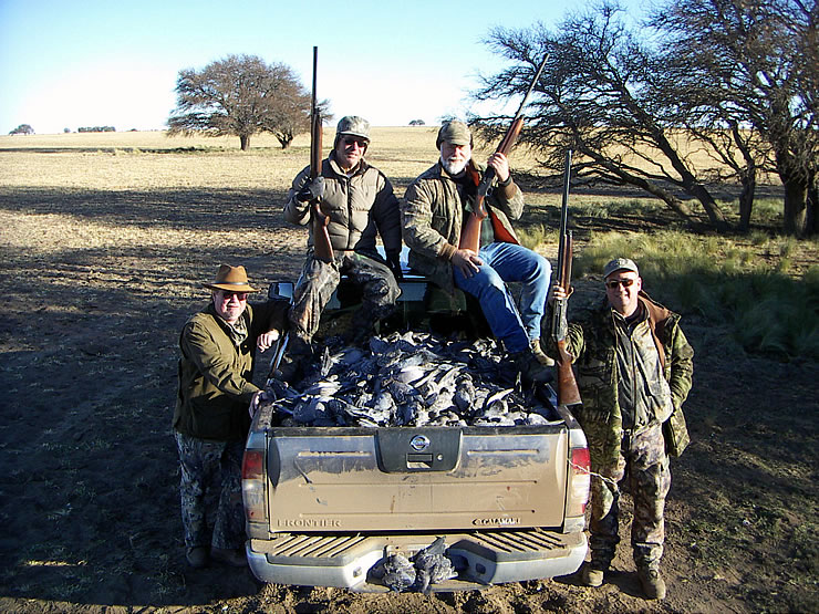PHOTO: argentina wingshooting pidgeons, doves